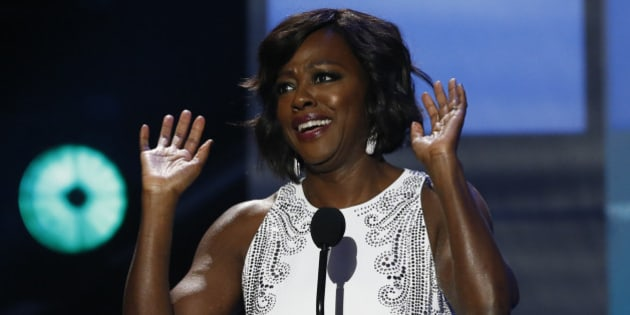 Presenter Viola Davis takes the stage at the 47th NAACP Image Awards in Pasadena, California February 5, 2016.  REUTERS/Mario Anzuoni