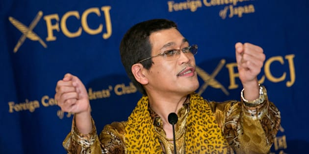 TOKYO, JAPAN - OCTOBER 28:  PIKOTARO speaks to the press on October 28, 2016 in Tokyo, Japan. PIKOTARO spoke to the foreign press in Japan on his song Pen Pineapple Apple Pen, or PPAP.  (Photo by Christopher Jue/Getty Images)