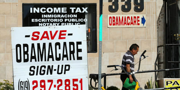 An insurance store advertises Obamacare in San Ysidro, California, U.S., January 25, 2017. To match Insight USA-OBAMACARE/INSURERS   REUTERS/Mike Blake