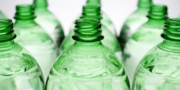 detail of plastic bottle