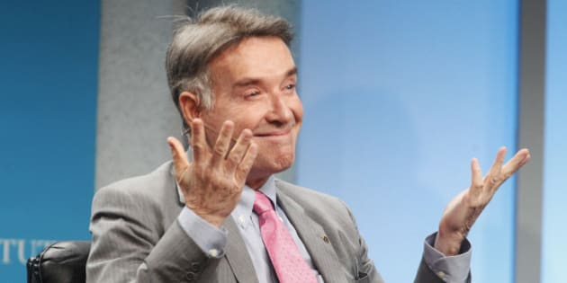 "Brazilian Eike Batista, chairman and CEO of EBX Group, gestures as he is introduced as one of the world's wealthiest men, prior to the ""Global Overview: Shifting Fortunes"" lunch panel discussion at the Milken Institute Global Conference in Beverly Hills, California  April 30, 2012.  REUTERS/Fred Prouser  (UNITED STATES)"