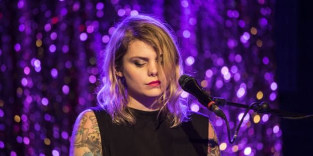 BARCELONA, SPAIN - NOVEMBER 13:  Coeur de Pirate performs in concert at sala Bikini on November 13, 2016 in Barcelona, Spain.  (Photo by Xavi Torrent/Redferns)
