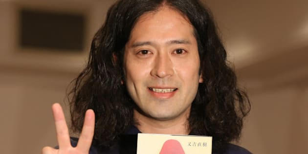 TOKYO, JAPAN - JULY 16: Comedian and novelist Naoki Matayoshi attends the Press conference for his Akutagawa Prize winning book 'Hibana' on July 16, 2015 in Tokyo, Japan. (Photo by Sports Nippon/Getty Images)