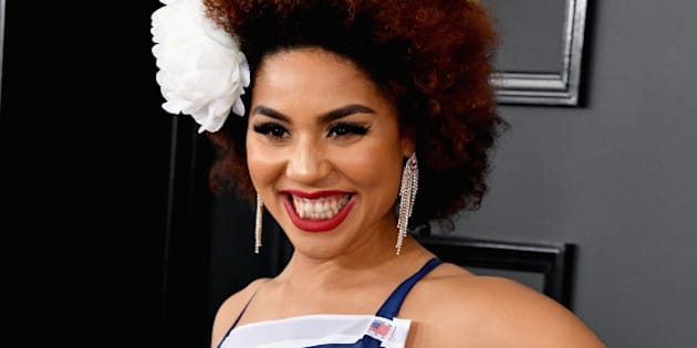 LOS ANGELES, CA - FEBRUARY 12:  Singer Joy Villa attends The 59th GRAMMY Awards at STAPLES Center on February 12, 2017 in Los Angeles, California.  (Photo by Steve Granitz/WireImage)
