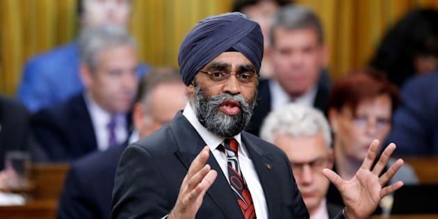 Canada's Defence Minister Harjit Sajjan speaks during Question Period in the House of Commons on Parliament Hill in Ottawa, Ontario, Canada, November 29, 2016. REUTERS/Chris Wattie