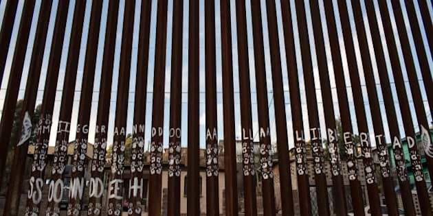 A view of the US/Mexico border line in Nogales, on February 16, 2017, northwestern Mexico.   ***Attention Editors, this image is part of an ongoing AFP photo project documenting the life on the two sides of the US/Mexico border simultaneously by two photographers traveling for ten days from California to Texas on the US side and from Baja California to Tamaulipas on the Mexican side between February 13 and 22, 2017. You can find all the images with the keyword : BORDERPROJECT2017 on our wire and on www.afpforum.com / AFP / GUILLERMO ARIAS        (Photo credit should read GUILLERMO ARIAS/AFP/Getty Images)