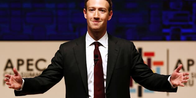 Mark Zuckerberg gestures while addressing the audience during a meeting of the APEC (Asia-Pacific Economic Cooperation) CEO Summit in Lima, Peru, November 19, 2016. REUTERS/Mariana Bazo/File Photo