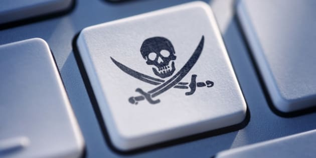 Pirate button on computer keyboard.