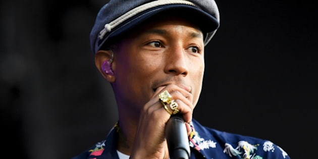 Pharrell Williams performs on the Pyramid stage at Worthy Farm in Somerset during the Glastonbury Festival in Britain, June 27, 2015.  REUTERS/Dylan Martinez