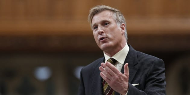 Canada's Minister of State for Small Business and Tourism Maxime Bernier speaks during Question Period in the House of Commons on Parliament Hill in Ottawa March 26, 2013.     REUTERS/Chris Wattie     (CANADA - Tags: POLITICS)
