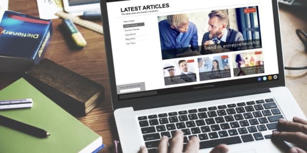Latest Article Webpage Advertising Announcement Concept