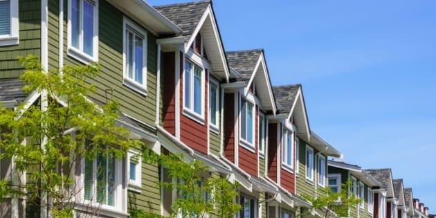 Modern apartment buildings in British Columbia, Canada