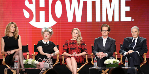 PASADENA, CA - JANUARY 09:  Laura Dern, Kimmy Robertson, Madchen Amick, Kyle MacLachlan and Robert Forster for the television show 'Twin Peaks' speak onstage during the 2017 Winter TCA Tour Panels - CBS And Showtime held at The Langham Huntington Hotel and Spa on January 9, 2017 in Pasadena, California.  (Photo by Michael Tran/WireImage)