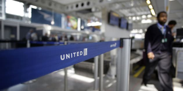 An airport worker walks through the United Airlines terminal at O'Hare International Airport on April 12, 2017 in Chicago, Illinois. 
