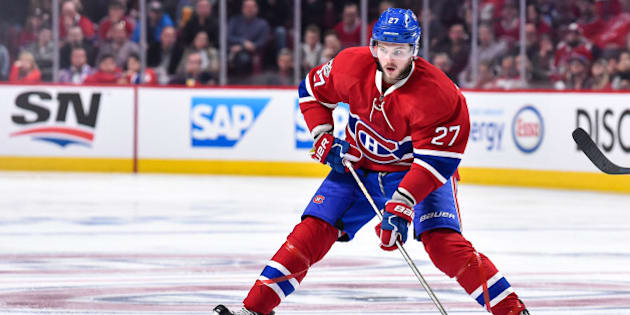 MONTREAL, QC - APRIL 14:  Alex Galchenyuk #27 of the Montreal Canadiens skates the puck across the blue line against the New York Rangers in Game Two of the Eastern Conference First Round during the 2017 NHL Stanley Cup Playoffs at the Bell Centre on April 14, 2017 in Montreal, Quebec, Canada.  The Montreal Canadiens defeated the New York Rangers 4-3 in overtime.  (Photo by Minas Panagiotakis/Getty Images)