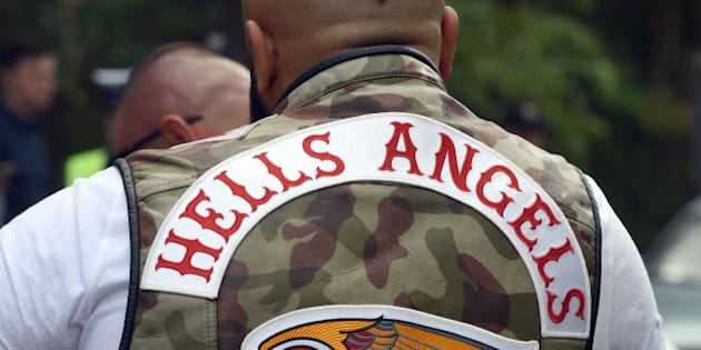Members of the Hells Angels motorcycle club arrive for the Hells Angels' World Run 2016 gathering on June 3, 2016 in Rynia near Warsaw.