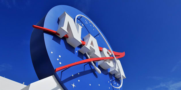 'Cape Canaveral, FL, USA- January 2, 2011: The NASA\'s Logo Signage at the Kennedy Space Center, NASA in Florida, USA.'