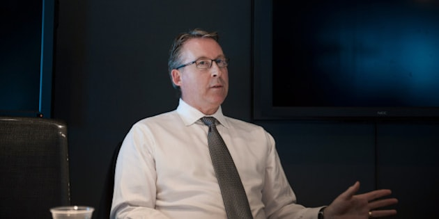 Paul Mahon, chief executive officer of Great-West Lifeco Inc., speaks during an interview in Toronto, Ontario, Canada, on Thursday, June 26, 2014. Great-West Lifeco Inc., majority-owned by Power Corp. of Canada, the holding company run by the billionaire Desmarais family, is the cheapest Canadian stock on a list of the world's 500 largest companies, according to data compiled by Bloomberg. Photographer: Galit Rodan/Bloomberg via Getty Images