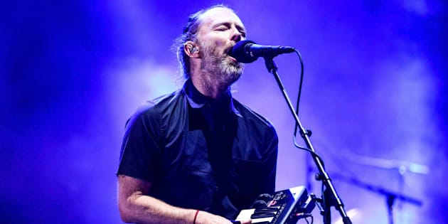 INDIO, CA - APRIL 21:  Musician Thom Yorke of Radiohead performs on the Coachella Stage during day 1 of the 2017 Coachella Valley Music & Arts Festival (Weekend 2) at the Empire Polo Club on April 21, 2017 in Indio, California.  (Photo by Rich Fury/Getty Images for Coachella)