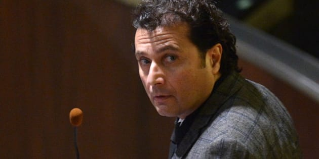 Costa Concordia's captain Francesco Schettino arrives in the courthouse for his final declaration on the last day of his trial on February 11, 2015 in Grosseto. An Italian court is expected to announce a verdict tonight or tomorrow in the case against Francesco Schettino, the captain of the Costa Concordia cruise ship that capsized in 2012, killing 32 people. Schettino, 54, is charged with multiple manslaughter and causing a shipwreck. He is also accused of abandoning ship ahead of his passengers. AFP PHOTO / ALBERTO PIZZOLI        (Photo credit should read ALBERTO PIZZOLI/AFP/Getty Images)