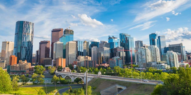 Summertime cityscape image of downtown Calgary, Alberta, Canada.