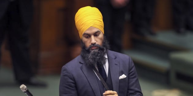 TORONTO, ON - FEBRUARY 21  -  New Democratic Government and Consumer Services critic Jagmeet Singh during question period at Queen's Park, February 21, 2017.        (Andrew Francis Wallace/Toronto Star via Getty Images)