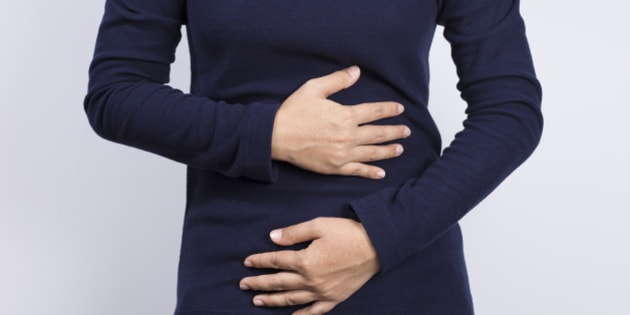 Health Care: Woman has stomach ache