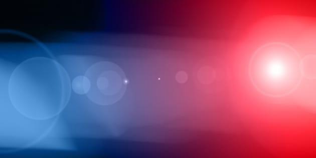 Blurred photo of emergency vehicle.