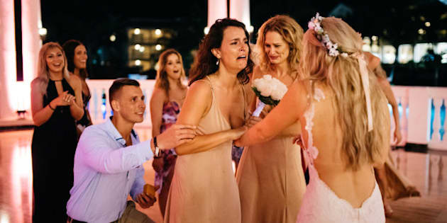 This Awesome Bride Planned Her Best Friend's Proposal At Her Own Wedding