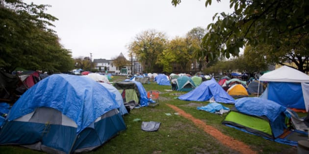 A general view of the tent city in Oppenheimer Park in Vancouver October 15 2014 & Do You Really Know Your Own Neighbourhood? | HuffPost Canada