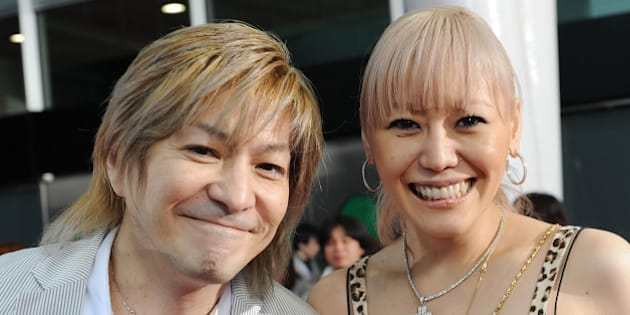 SAITAMA, JAPAN - MAY 31:  Musicians Tetsuya Komuro (L) and KEIKO walk the red carpet during the MTV Video Music Awards Japan 2008 at the Saitama Super Arena on May 31, 2008 in Saitama, Japan.  (Photo by Jun Sato/WireImage)