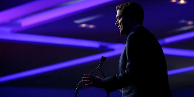 Conservative leadership candidate Andrew Scheer speaks at the Conservative Party of Canada leadership convention in Toronto, Ontario, Canada, May 26, 2017. The Conservative Party of Canada will elect a new leader May 27. REUTERS/Chris Wattie
