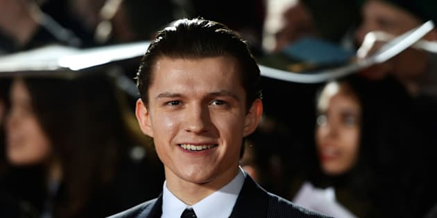 """Actor Tom Holland poses at the premiere of the film """"The Lost City of Z"""" in London, Britain February 16, 2017.  REUTERS/Hannah McKay"""