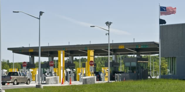 Canada to Us Border Crossing. St.Stephen New Brunswick to Calais Maine.