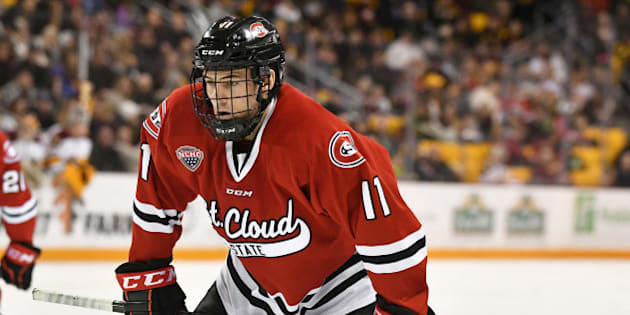 `MINNEAPOLIS, MN - JUNE 22: American forward Ryan Poehling is a top-15 prospect in the 2017 NHL Entry Draft. (Photo by Nick Wosika/Icon Sportswire via Getty Images)
