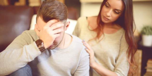 Consoling her depressed Boyfriend
