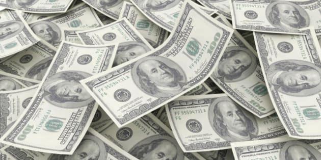 money pile  100 dollar bills