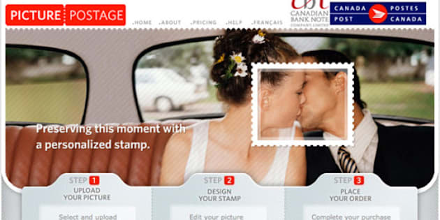 Use Your Wedding Pics To Create Custom Postage Stamps Huffpost Canada