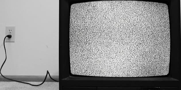 an old crt tv plugged into the...