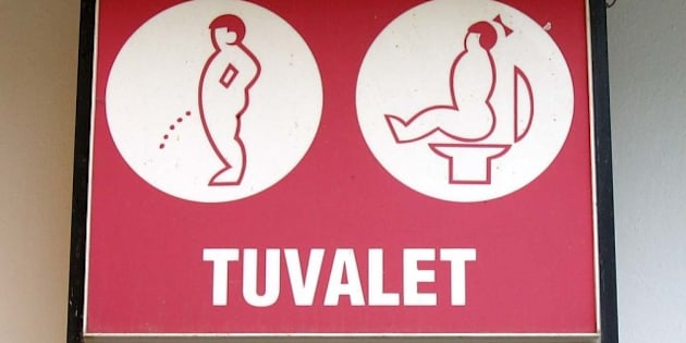 bathroom signs around the world shows finding a restroom can vary