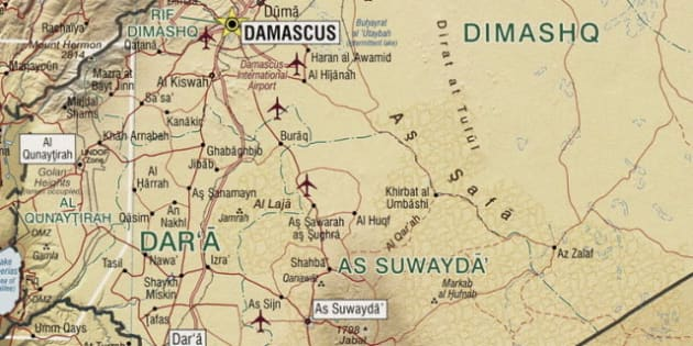 Description Map of the Jabal al-Druze and Quneitra Gouvernate in southern Syria. |  Source File:Syria 2004 CIA map. jpg | Date 2012-08-29 |  ...