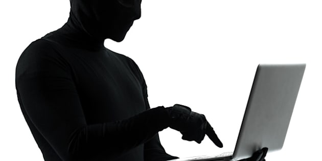 thief criminal computer hacker  ...