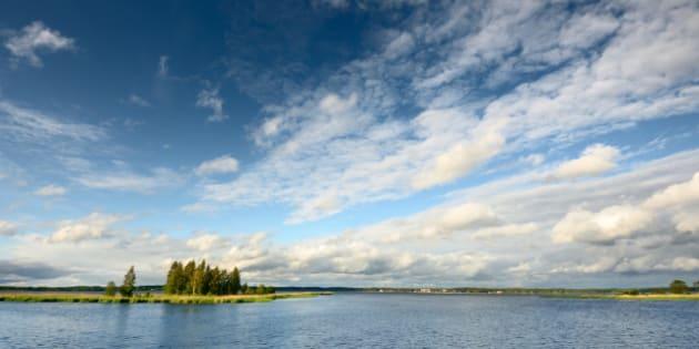 lake landscape in summer