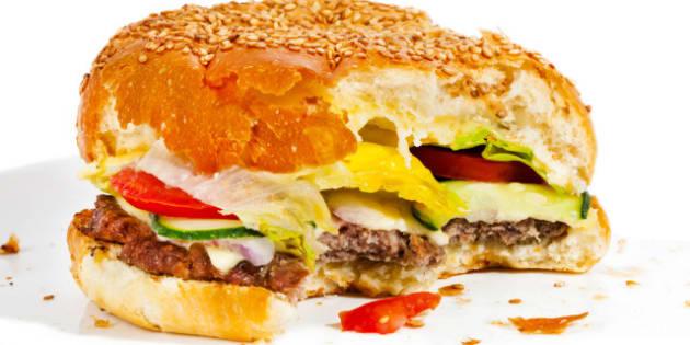 big tasty bitten burger...