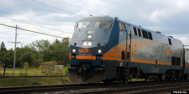 Description 1 Via Rail Train 44 from Toronto, bound for Ottawa, speeds through Brighton, Ontario | Source http://www. flickr. com/photos/ ...