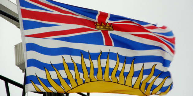 Description Flag of British Columbia , flown on board the BC Ferries ship M/V Queen of Oak Bay | Source | Date 2007-12-12 | Author  ...