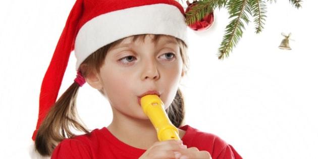 happy little girl with santa...