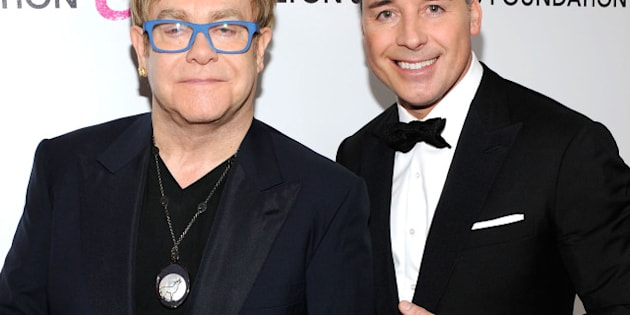 WEST HOLLYWOOD, CA - MARCH 07:  Musician Sir Elton John and David Furnish attend the 18th Annual Elton John AIDS Foundation Academy Award Party at Pacific Design Center on March 7, 2010 in West Hollywood, California.  (Photo by Larry Busacca/Getty Images)