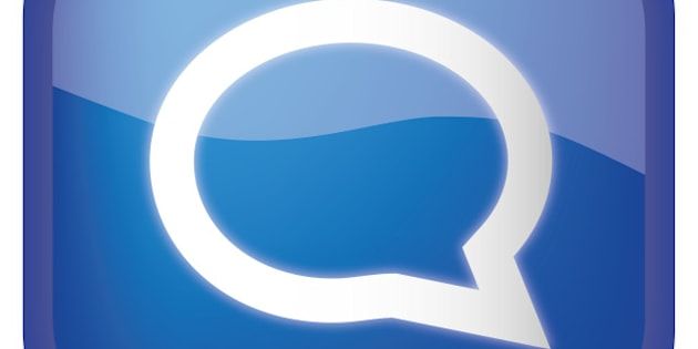 comments blue glossy icon on...