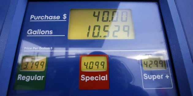Gas prices are displayed at a Mobil gas station in Chicago, Thursday, Jan. 31, 2013. Gasoline prices are climbing as rising economic growth boosts oil prices and temporary refinery outages crimp gasoline supplies on the East and West Coasts. (AP Photo/Nam Y. Huh)